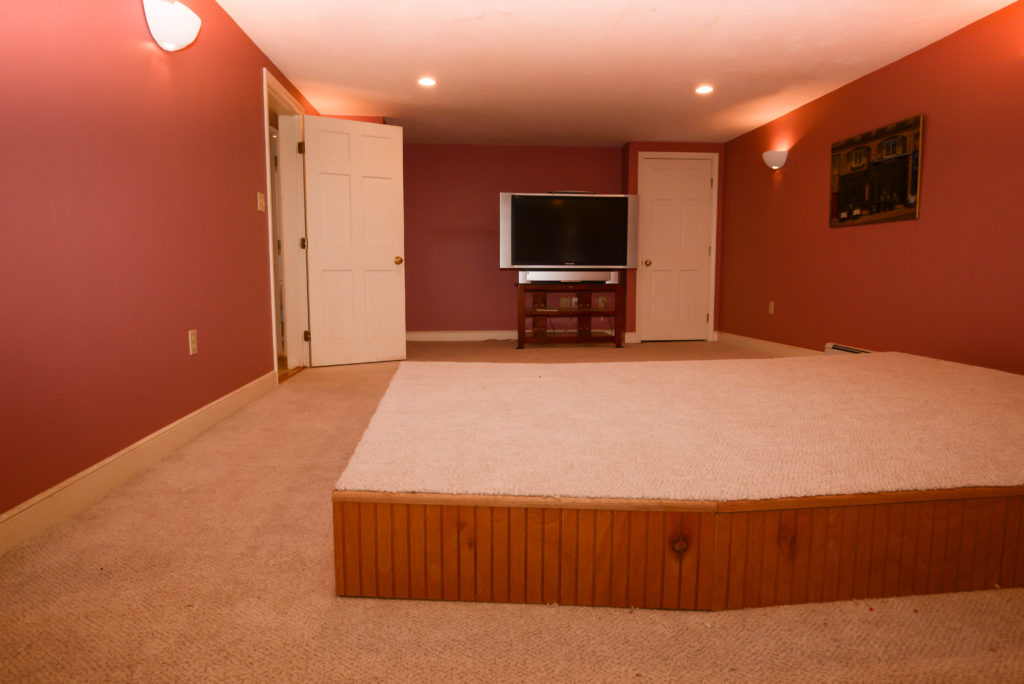 Finished Lower Level with Media Room framingham real estate